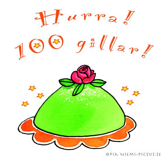 100 gillar